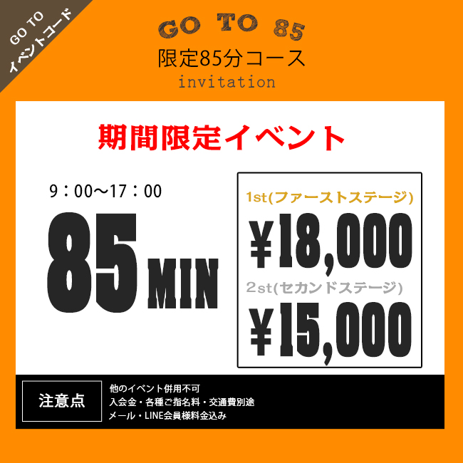 『秘密倶楽部 凛 TOKYO』錦糸町デリヘル 待ち合わせ型 人妻デリバリーヘルス『GO TO 85』